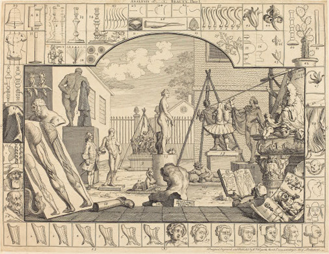 """Analysis of Beauty: pl.1"" von William Hogarth"