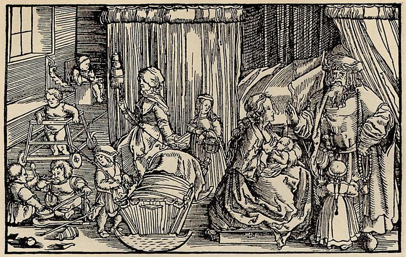Abbildung 3: Petrarcameister, Fruchtbares und wohlsprechliches Hausweib, Holzschnitt, 1523