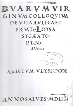 Abb. 7: Titelblatt Colloquium 1552