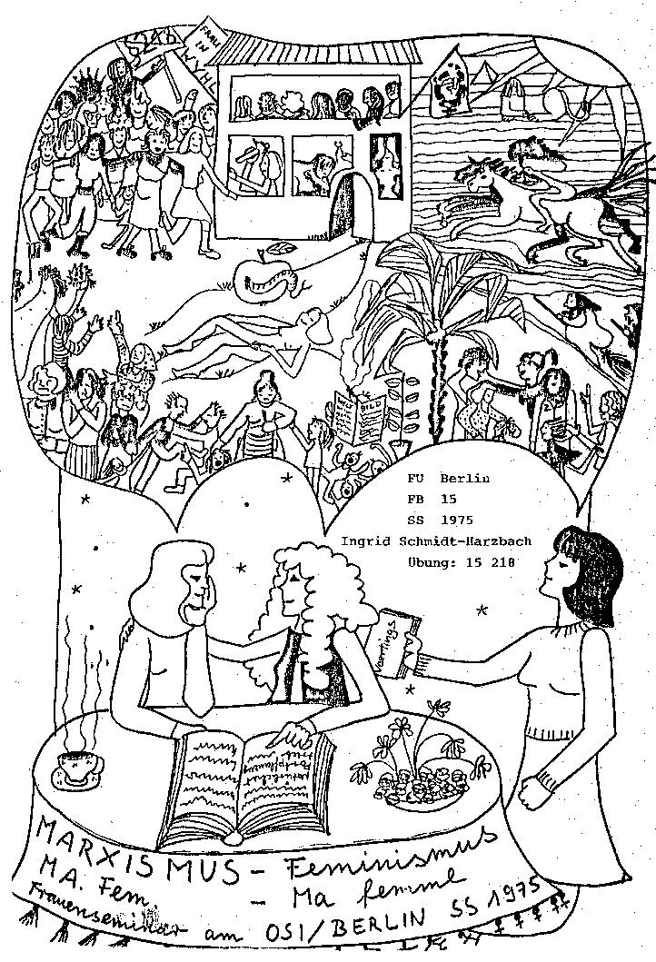 "Ankündigung des Seminars ""Marxismus – Feminismus"" 1975"