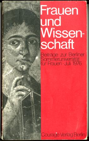 Cover des Bandes zur Berliner Sommeruniversität Frauen und Wissenschaft 1976