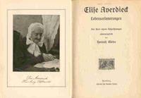 Titelseite der Autobiographie von Elise Averdieck