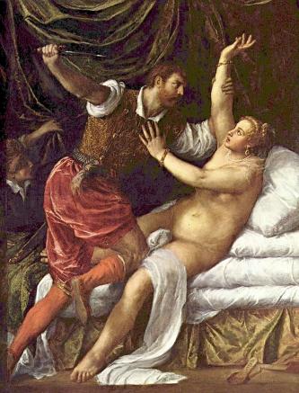 Tizian: Vergewaltigung der Lucretia