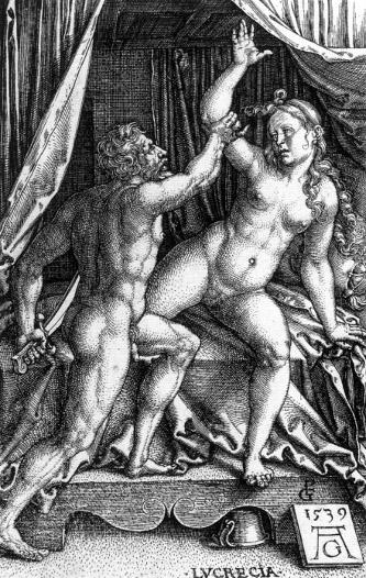 Aldegrever: Vergewaltigung der Lucretia (1539)